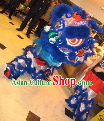 Deep Blue Handmade Fut San Style Lion Dance Equipments Complete Set
