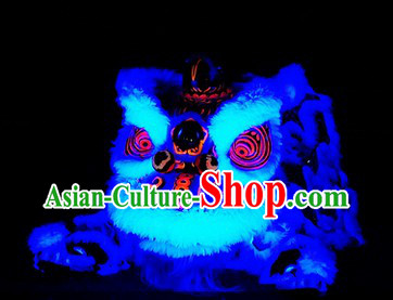 Luminous Hoksan Lion Dance Head and Tail Pants Costume Complete Set