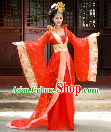 Ancient Chinese Red Empress Costumes for Women
