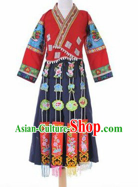 Traditional Chinese Minority Clothes for Kids