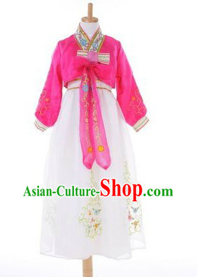 Traditional Chinese Korean Nationality Clothing for Kids