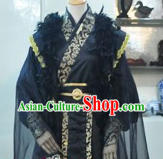 Ancient Chinese Style Black Hierarch Costumes for Men