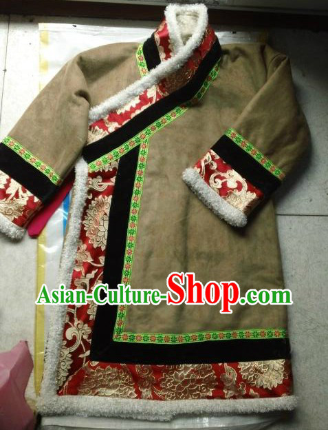 Traditional Chinese Tibetan Winter Robe for Kids