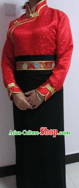 Traditional Chinese Tibetan Ethnic Daily Clothes for Women