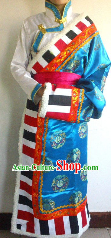 Traditional Chinese Tibetan Ethnic Daily Clothing for Ladies