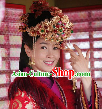 Ancient Chinese Handmade Wedding Brides Flower Crown