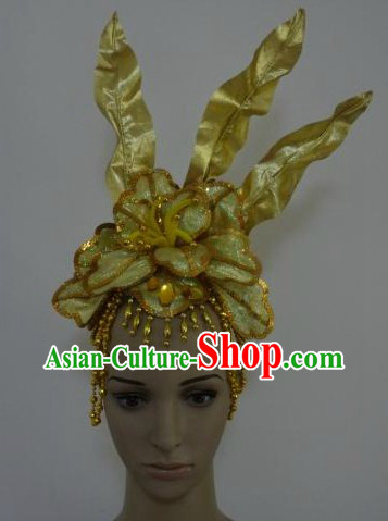 Chinese Classical Dancing Gold Leaf Headpiece