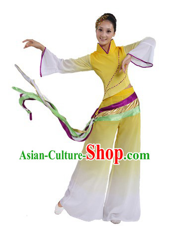 Chinese Classical Dance Costume and Headpiece for Women