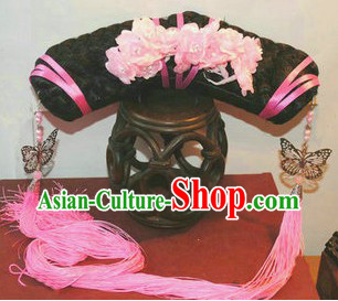 Qing Dynasty Palace Princess Manchu Hat for Girls