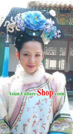 Qing Chao Chinese Imperial Concubine Phoenix Manchu Hair Accessories
