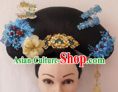 Qing Dynasty Palace Maid Butterfly Hair Accessories Hat