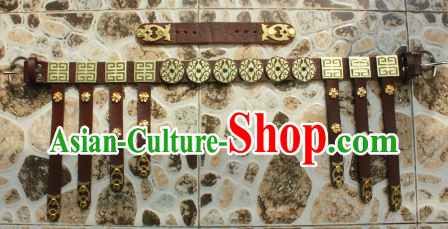 Chinese Tang Song Dynasty Handmade Hanfu Belt for Men