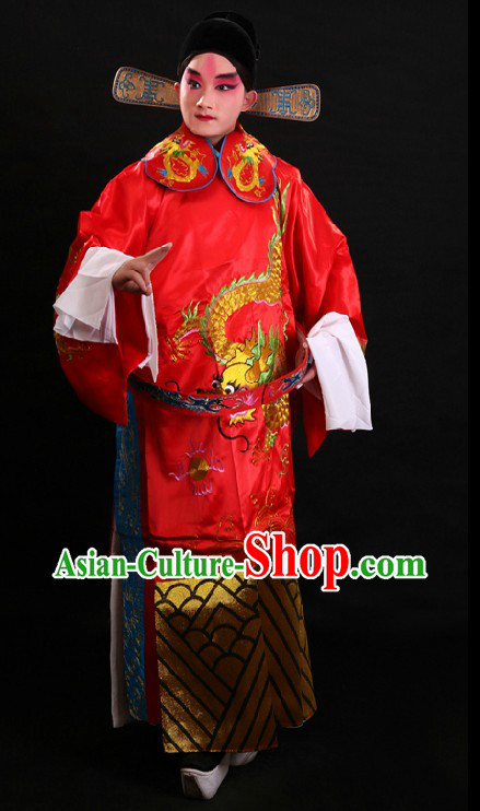 Traditional Chinese Opera Wedding Dress and Hat for Men
