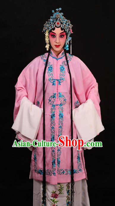Pink Chinese Opera Qing Yi Dan Costumes for Women