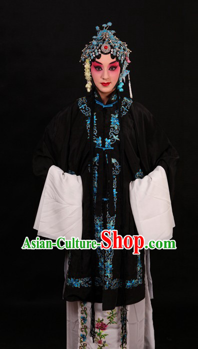 Black Chinese Opera Qing Yi Dan Costumes for Women