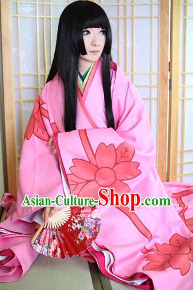 Classic Japanese Kimono Complete Set for Women