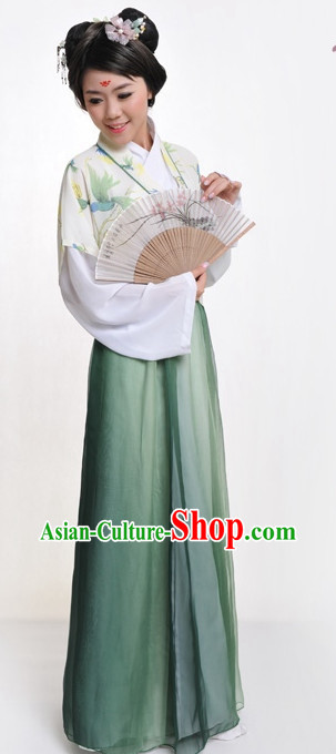 Chinese Classic Ban Bi Hanfu Clothing Complete Set for Women