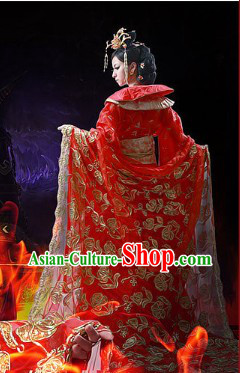 Chinese Classic Red Empress Wedding Dress