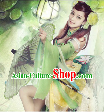 Chinese Classic Fantasy Green Fairy Cosplay Costumes