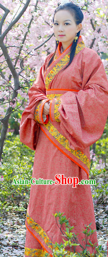 Ancient Chinese Red Wedding Dresses for Women