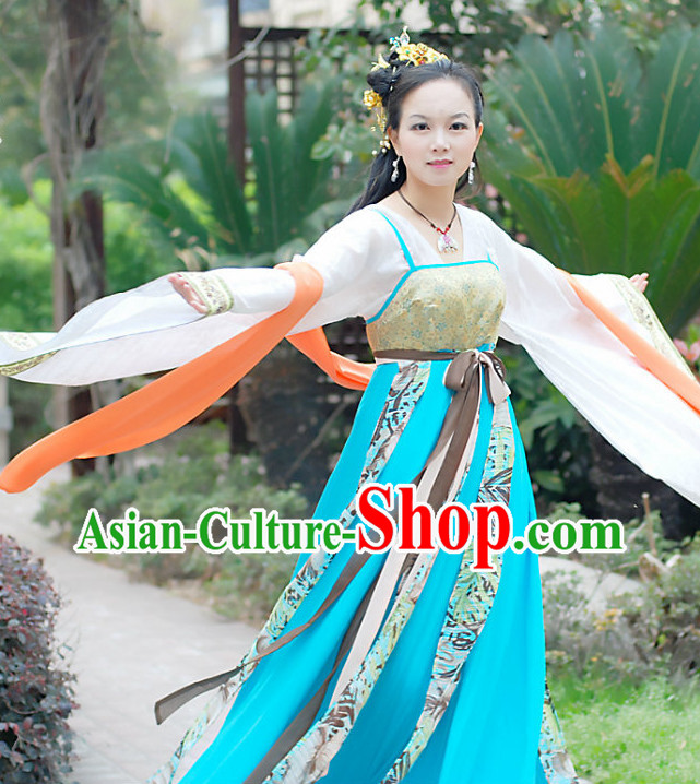 Ancient Chinese Tang Dynasty Palace Dancer Costumes for Women