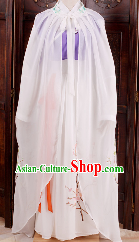 Dream of Red Chamber Lin Daiyu Costumes and Cape Complete Set