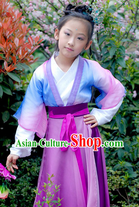 Ancient Chinese Tang Dynasty Clothing for Kids