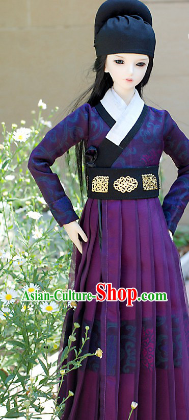 Ancient Chinese Ming Dynasty Clothing and Hat for Men