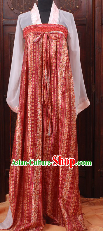 Ancient Chinese Tang Dynasty Ruqun Costumes for Women