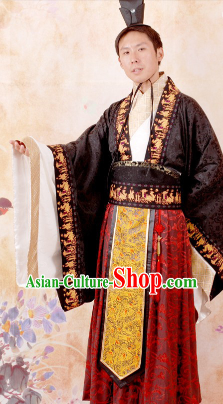 Traditional Chinese Important Festival Ceremonial Han Dynasty Clothes for Men