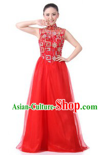 Traditional Chinese Singing Chorus Costumes for Women