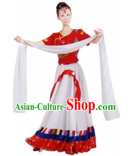 Traditional Chinese Mongolian Clothes and Hat for Women