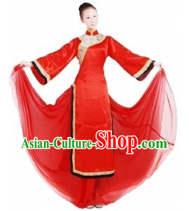 Red Chinese Classical Dancing Costumes for Women