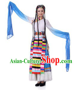 Traditional Chinese Tibetan Clothing for Women