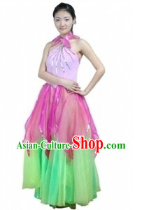 Traditional Chinese Lotus Dance Costumes for Women