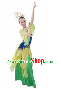 Ancient Chinese Dance Costumes and Hat for Women