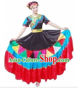 Chinese Classical Yi Tribe Dancing Costume for Women
