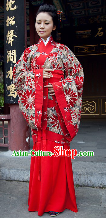 Traditional Chinese Hanfu Guzhuang Clothing for Women