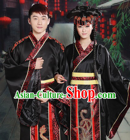 Ancient Chinese Dragon and Phoenix Wedding Dresses