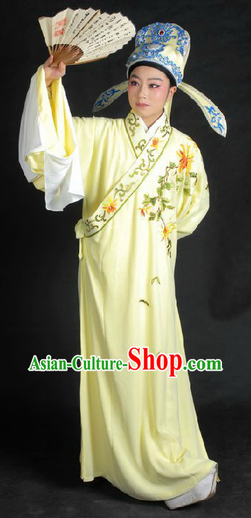 Ancient Chinese Young Men Robe and Hat for Men