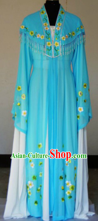Ancient Chinese Opera Blue Dan Costumes for Women