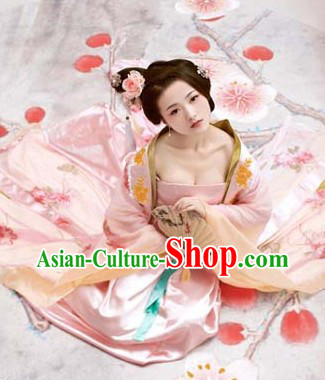 Ancient Chinese Guzhuang Costumes and Headpiece for Women