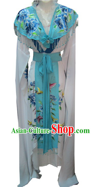 Ancient Chinese Opera Blue Butterfly Costumes for Women