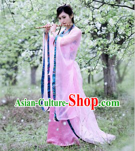 Pink Ancient Chinese Musician Costumes