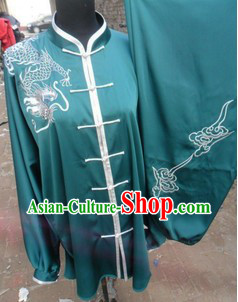 Traditional Chinese White Silk Martial Arts Clothing