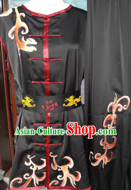 Traditional Chinese Black Dragon Martial Arts Wushu Clothes