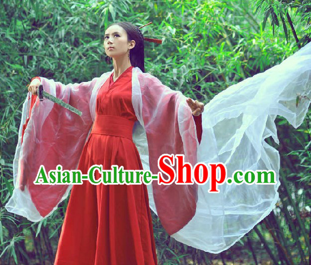 Ancient Chinese Female Swordsman Costumes for Women