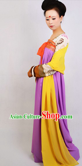 Ancient Chinese Tang Dynasty Skirt Complete Set for Women