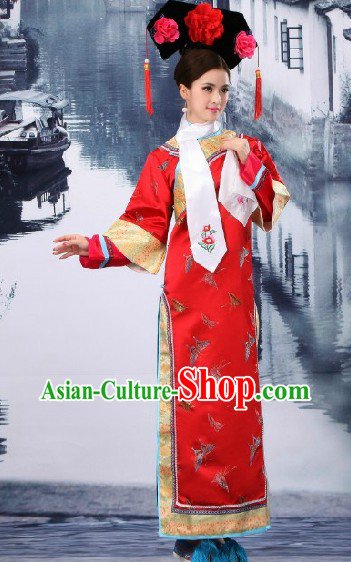 China Qing Dynasty Princess Wedding Clothing, Hat and Shoes