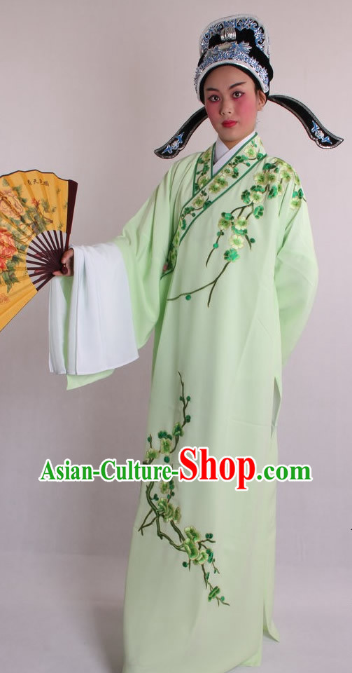 Traditional Chinese Huangmei Opera Male Costumes and Hat